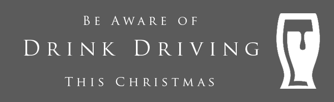 Be aware of drink driving this Christmas.